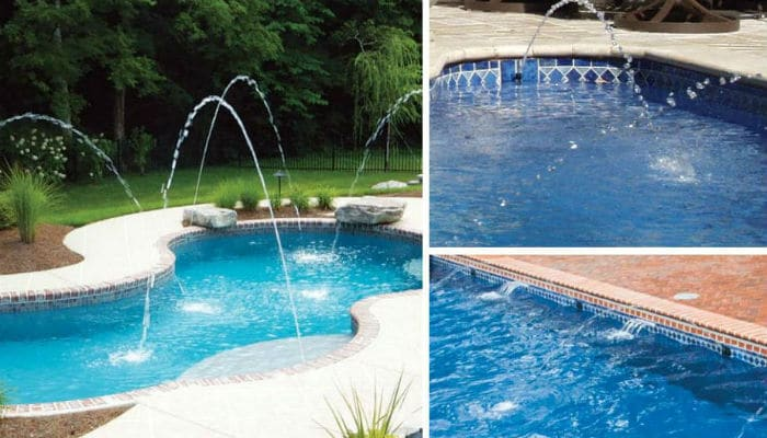 Trilogy Pools Water Features: Streams. Swim World Pools.