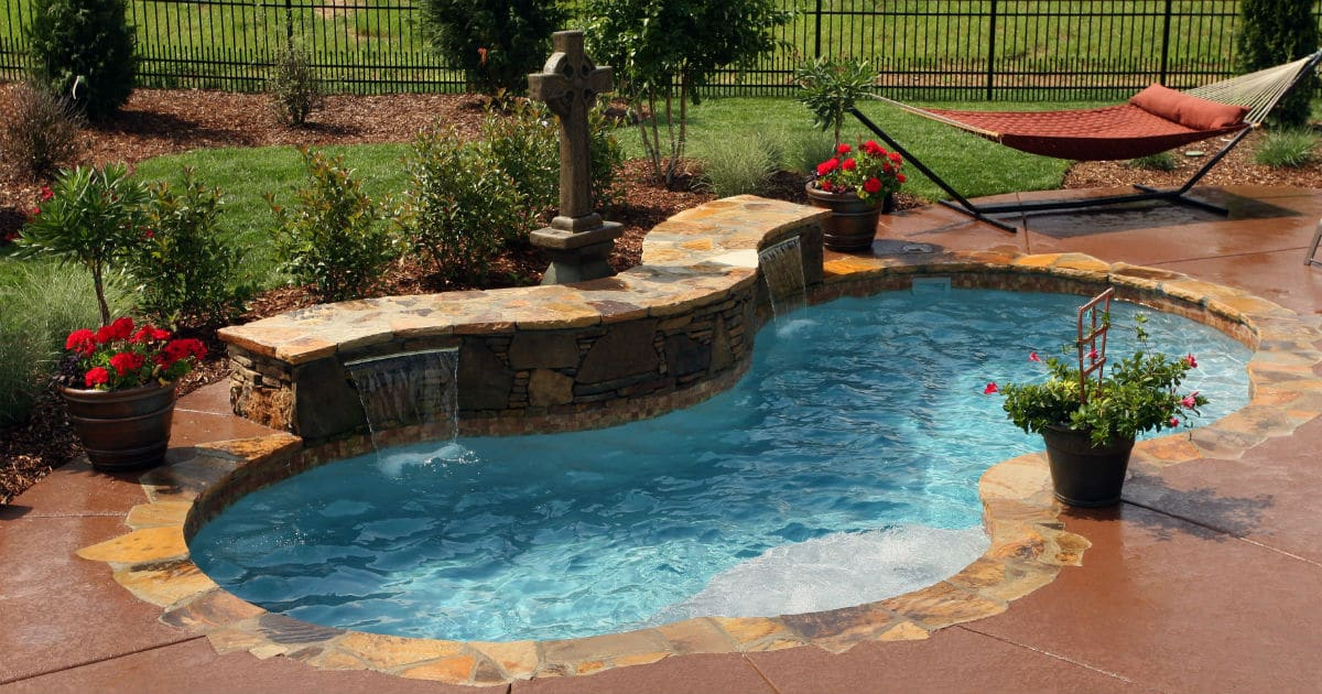 Trilogy Picasso Shape Fiberglass Pool Swim World Pools on Facebook