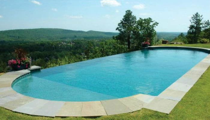 Trilogy Pools Water Features: Vanishing Edge. Swim World Pools.