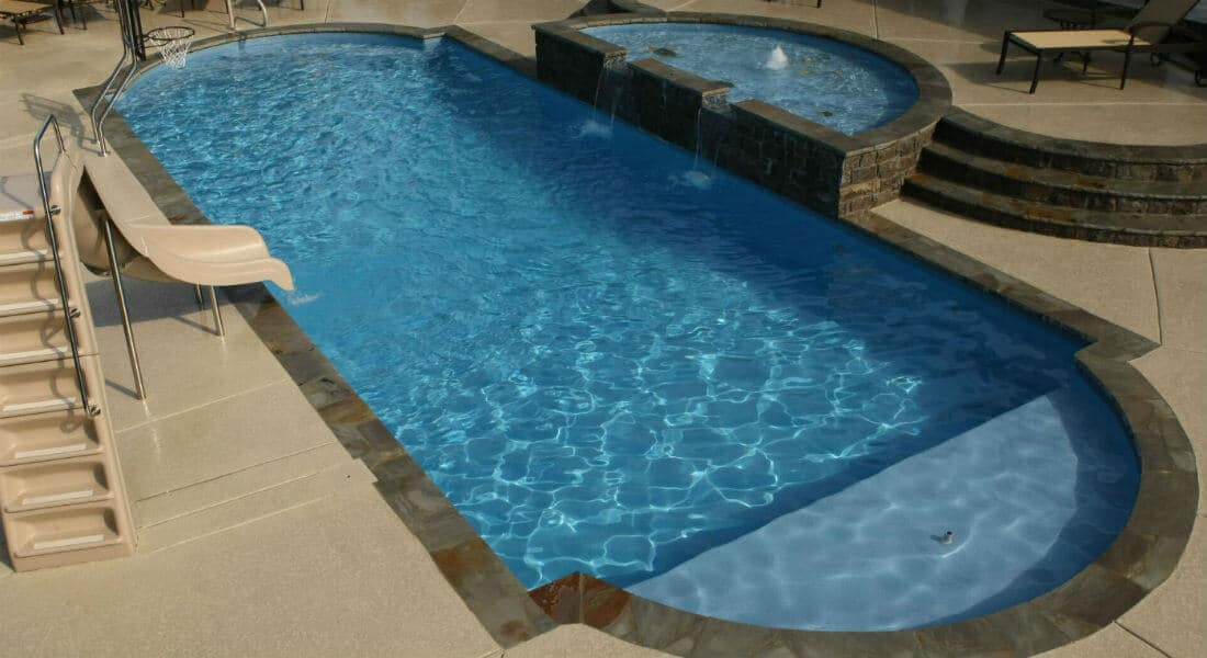 Trilogy fiberglass pools shapes and finishes for 12x24 pool design