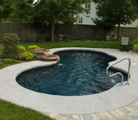 Trilogy Axiom Modern Freeform Shaped Pool. Swim World Pools
